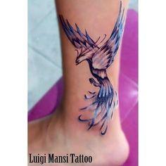 phoenix watercolour tattoo - Like but would wan...