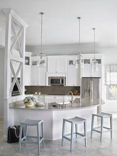 Favorite Turquoise Design Ideas - Beach House Kitchen.  Krista Watterworth Design Studio