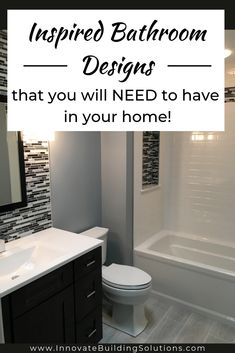 The 10 Commandments of Bathroom Remodeling Success 2019 Thinking about remodeling your bathroom? These bathroom designs will inspire you to remodel your bathroom into something that you will LOVE! Check it out here! Ideal Bathrooms, Beautiful Bathrooms, Small Bathroom, Shower Bathroom, Diy Shower, Diy Bathroom Remodel, Shower Remodel, Bathroom Remodeling, Remodeling Ideas