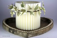 my ivy leaves in sugar: an original idea for a country chic Christmas decoration - www.mycakes.it