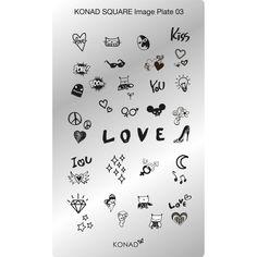 LOVE!!! Eso es lo que pone en el centro de la nueva placa rectangular 3 #konad! ¿Habias visto alguna vez una placa tan bien aprovechada? #nailart #nails #stamping