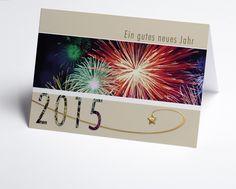 Art.-Nr. 150182. #Neujahrskarte mit Feuerwerk