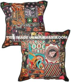 #embroideredpillows #vintagepillows #Patchworkcushion #floorcushion #24inchescushion #squarefloorcushion #20inchespillows #16inchespillows #indiancushion #indianpillows #embroideredpillows #handmadecushion #sofacushion #couchcushion #ikeapillows #diningroomcushion #bedroomcushion Black Throw Pillows, Sofa Throw Pillows, Cushions On Sofa, Floor Pillows, Tapestry Bedding, Wall Tapestries, Handmade Cushions, Decorative Throw Pillows, Bean Bag Bed