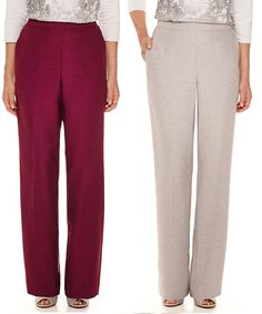 Alfred Dunner Womens Pants Veneto Valley Pull On Size 10 12P 14P 20W