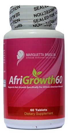 AfriGrowth60 Black Hair Growth Vitamins For African American Hair - Extra Strength Biotin and MSM *** Check this awesome product by going to the link at the image.