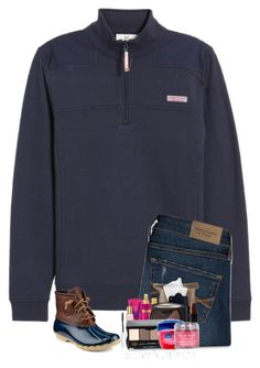 """Thank God I'm yours."" by preppyandsouthern17 ❤ liked on Polyvore featuring Vineyard Vines, Abercrombie & Fitch, Sperry and Kendra Scott"