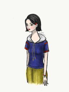Disney Snow in modern clothes