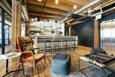 """WeWork, the $10 billion startup that rentsshared office space to startups, freelancers and small companies, recently opened a new locationin Chicago's Fulton Market District. """"Colored with revitalized and converted brick ... Read More"""