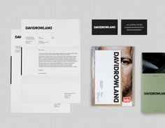 Brand identity, headed paper, business cards and lookbook by London-based graphic design studio ico Design for photographer David Rowland