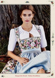 from Lena Hoschek Tradition Collection Drindl Dress, Maid Dress, Traditional Fashion, Traditional Dresses, Traditional Trends, Mode Outfits, Fashion Outfits, German Costume, Oktoberfest Outfit