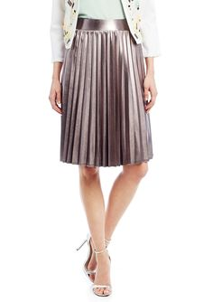 PANIZ Metallic Pleated Skirt | ideel