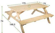 Resultado de imagen para mesas de madera plegables para exterior