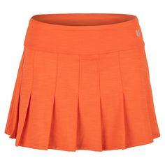 Eleven Women's Flutter 13 Inch Tennis Skort in Orange - Pleated Tennis Skirt, Tennis Skort, Tennis Uniforms, Tennis Wear, Mini Skirts, Orange, How To Wear, Shopping, Women