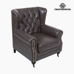 Armchair Polyskin Grey - Relax Retro Collection by Craftenwood