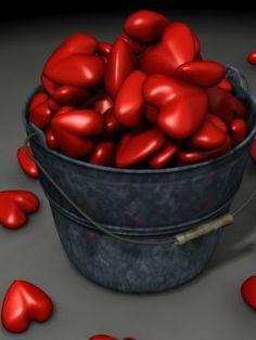 bucket of hearts