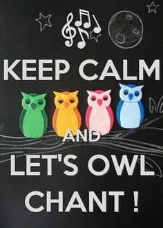 KEEP CALM, AND LET'S OWL CHANT ~:~ Because We Always Love ❤ OWLS !!