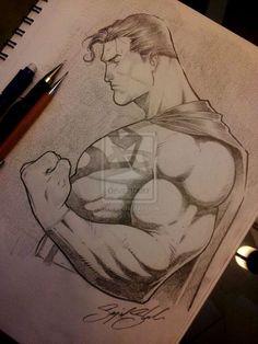 superman pencil comission by Sajad126@deviantart.com