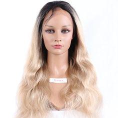 LUFFY Two Tone Natural Blonde Hair Wavy Brazilian Full La...