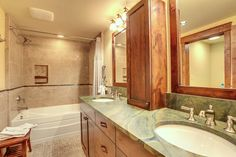 Master Bathroom part of Ski Home Remodel in Breckenridge Colorado Before and Aft - rustic - Bathroom - Denver - Trilogy Partners