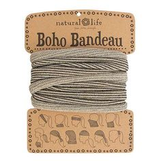 Add a little sparkle to your life with this super-versatile Cream Tinsel Boho Bandeau!