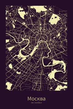 Moscow, Russia Map Print