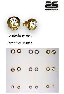 77372c46eb93 Pendientes de oro amarillo de 1ª Ley (18 Kilates) de la firma Sotoca.