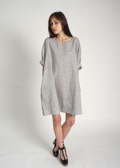 Bamboo By Stripe Organic Light Weight Cotton Linen Baggy Dress