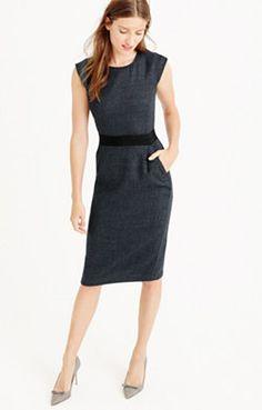 b86820eff78 Cap-sleeve dress in mini-dot wool. Love! Love! Love!