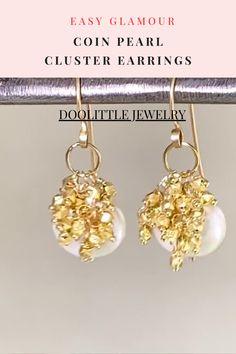 Cluster Earrings, Women's Earrings, Diamond Earrings, Pearl Jewelry, Gemstone Jewelry, Boho Necklace, Custom Jewelry, Earrings Handmade, Special Occasion