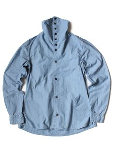 KAPITAL blue shirt with turtleneck collar