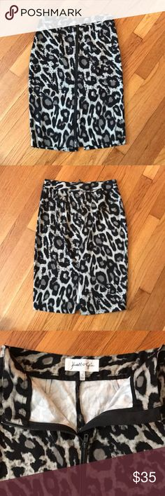 Kendall and Kylie skirt Kendall and Kylie leopard skirt size small. Kendall & Kylie Skirts Pencil