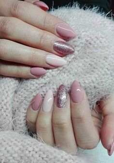 Beautiful Nude and pink Nails Art 2018