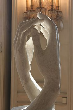 Rodin. This is probably my favourite piece of art ever. He hasn't just captured the detail of the hands. But the emotion of a lover's touch. It takes my breath away. Pinned from my friend Jenn's blog. www.earthfirewaterearth.blogspot.com