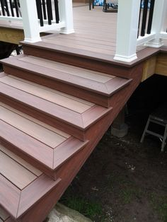 Deck Skirting Ideas - Deck skirting is a material connected to sustain article and boards listed below a deck. Get some fantastic concepts for distinct deck skirting therapies in this . Porch Stairs, Front Stairs, Cool Deck, Diy Deck, Deck Skirting, Patio Deck Designs, Deck Steps, Laying Decking, Deck Pictures