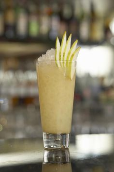 Limoncello and pear vodka come together to create a delicious Tuscan Pear cocktail.