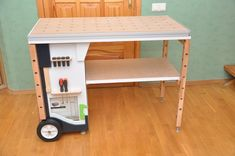 Мобильный верстак MFTC Portable Workbench, Mobile Workbench, Tool Organization, Tool Storage, Woodworking Bench, Woodworking Shop, Festool Kapex, Table Furniture, Furniture Design