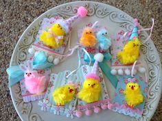 These little chicks are always one of my very favorite thing. MUST add a party hat to some of them.