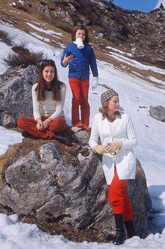 1972: Princess Grace holidays with Princesses Caroline and Stephanie