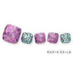 #マリーネイルズ #marienails #ネイルデザイン #かわいい #ネイル #kawaii #kyoto #ジェルネイル#trend #nail #toocute #pretty #nails #ファッション #naildesign #ネイルサロン #beautiful #nailart #tokyo #fashion #ootd #nailist #ネイリスト #ショートネイル #gelnails #instanails #newnail #purple  #green #pedicure
