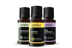 The most used oils in the world - Peppermint, Lemon and Lavender  Améo is clinical grade essential oils  #Certi5  Order them and more at www.hkfoundation.myameo.com Change the country to where you live, then enroll as Retail/Roc or wholesale member.