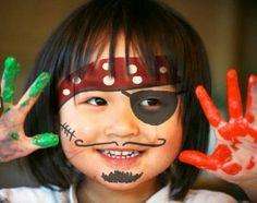 Pintar la cara Pirata en DEF deco | Decorar en familia