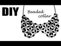 DIY: handmade beaded collar / Воротник из фурнитуры и бусен своими руками (Russian vid)