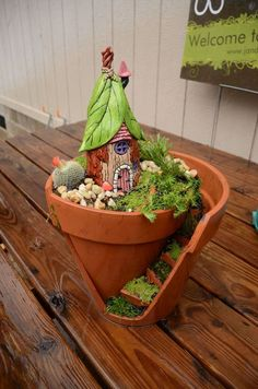 Try your hand at a charming fairy garden  Fairy gardens are a simple and sweet intro to gardening. (J&J Acres)