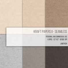 Seamless Kraft Papers Craft Card Stock Backgrounds Wallpapers Flyers Scrapbooking Seamless Texture Brown Tan Boho Rustic gray grey tones by LinePush on Etsy