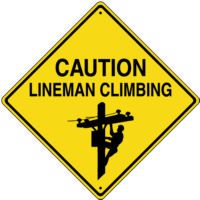 CAUTION: Lineman Climbing
