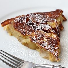 German Apple Pancake -- you probably have all the ingredients on hand -- delicious.