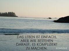 Inspirierendes Zitat von Konfuzius #einfach #Leben