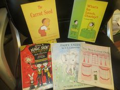 Vintage Lot Children's Scholastic Books Fairy Tales EE CUMMINGS Whats For Lunch Charley The Carrot Seed Best Loved Doll and More by HolySerendipity on Etsy