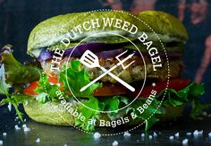 The Dutch Weed Bagel by The Dutch Weed Burger! #dutchweedburger #thedutchweedburger #vegan #veganhamburger #veganburger #seaweed #weed #plantpower #bagelsandbeans Pic by #lisettekreischer