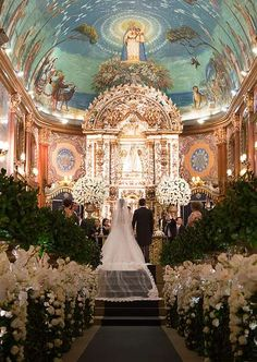New Wedding Ceremony Church Decorations Fun 33 Ideas Church Wedding Flowers, Church Wedding Decorations, Wedding Bells, Wedding Ceremony, Wedding Readings, Wedding Events, Church Readings, Native American Wedding, Catholic Wedding